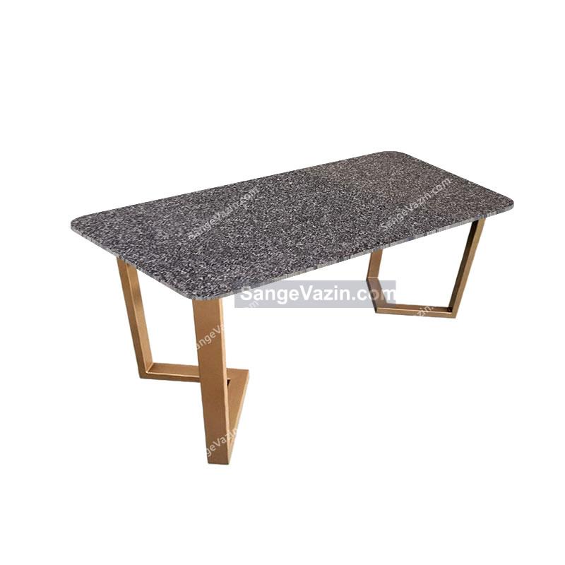 میز ناهار خوری با رویه سنگ مشکی گرانیت