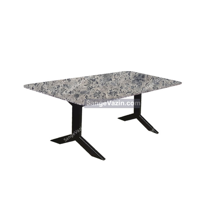 میز ناهار خوری با پایه سنگی گرانیت