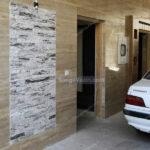 سنگ آنتیک در سنگ دیوار پارکینگ
