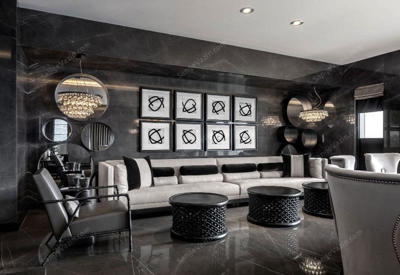 طراحی دیوار با سنگ مرمریت لاشتر