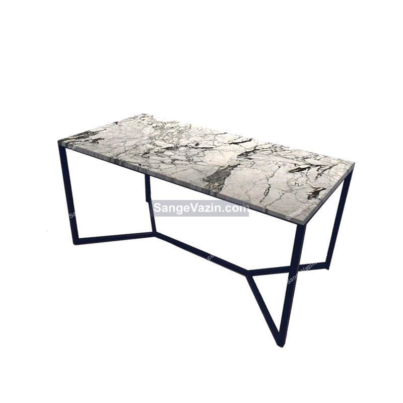 میز جلو مبلی و نهار خوری دادمان با رویه طبیعی سنگ چینی الیگودرز