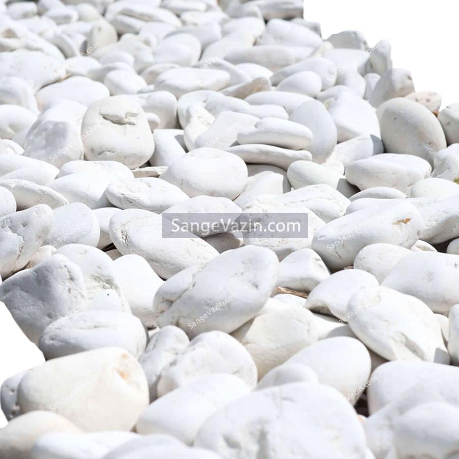 قلوه سنگ رودخانه ای سفید