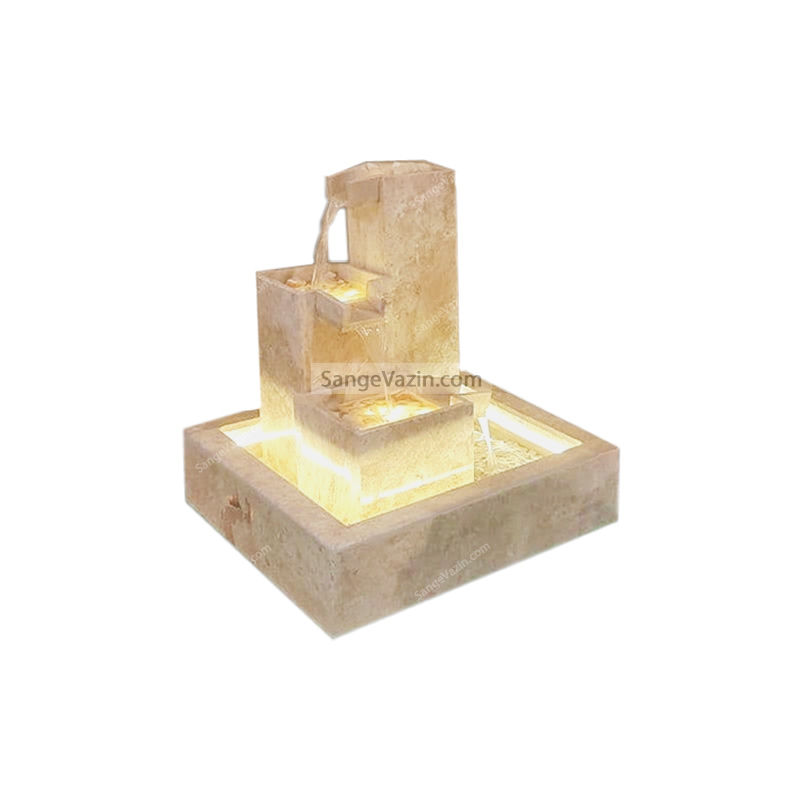 آبنما سنگی مدل ناودانی