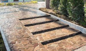 سنگ لاشه در پله و کف سازی