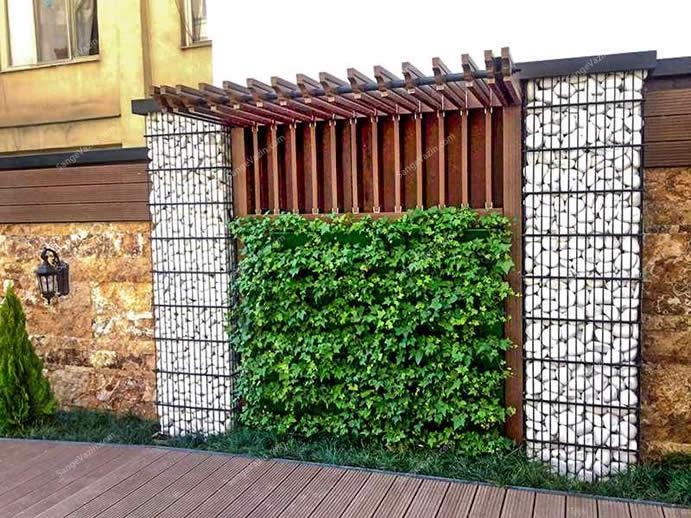 دیوار سبز و گابیون
